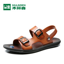 MULINSEN 2017 New Convenient Two Wearing Men's Casual Sandals Good Quality Microfiber PU Sole Male Leisure Fashion Slides 270249