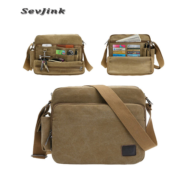 e6e845318c High Quality Multifunction Men Canvas Bag Casual Travel Bolsa Masculina  Men s Crossbody Bag Men Messenger Bags