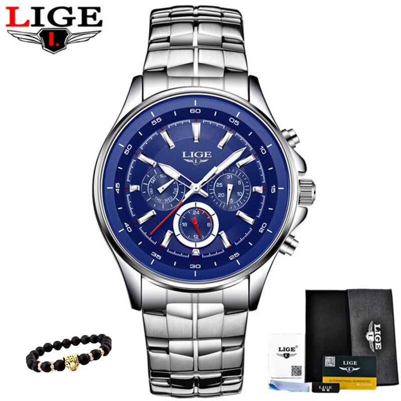 Reloj de pulsera deportivo militar reloj Masculino cronógrafo multifunción marca Moda hombre