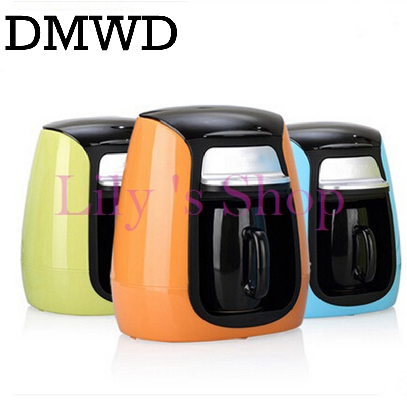 DMWD MINI household American drip coffee machine Italian semi-automatic portable Espresso coffee maker one cup office home EU US edtid portable automatic ice maker household bullet round ice make machine for family small bar coffee shop 220 240v 120w eu us