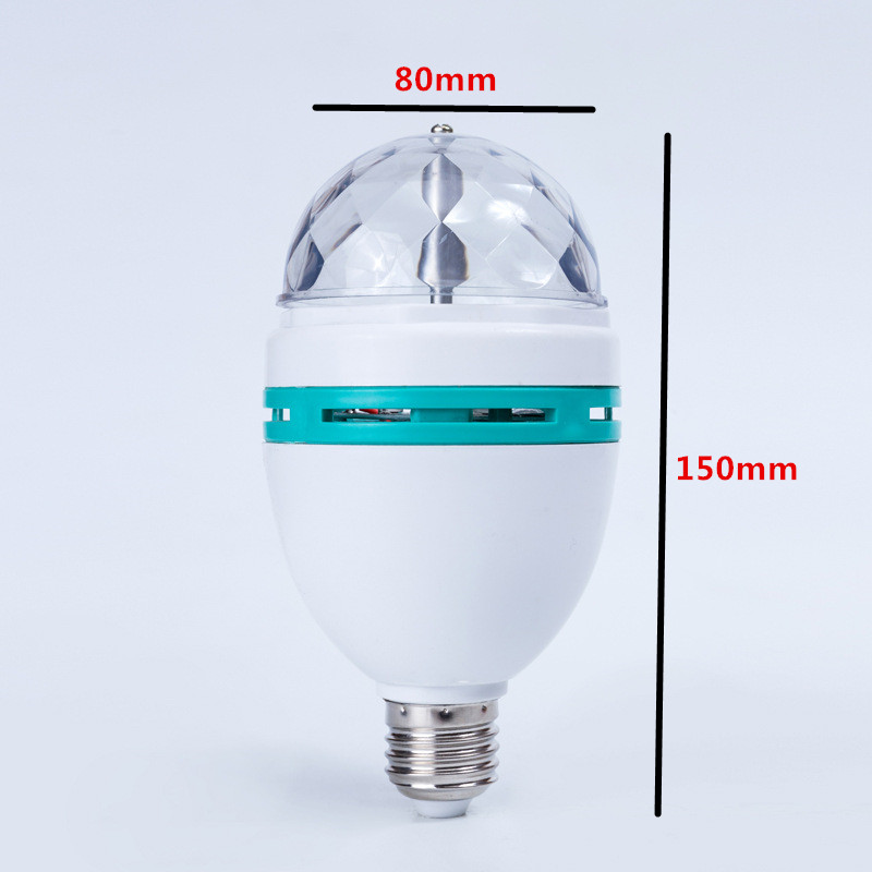 220V 3W RGB Disco Lampada LED E27 Roterande Disco Ball för DJ - Festlig belysning - Foto 3
