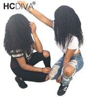 Вьющиеся Синтетические волосы на кружеве человеческих волос парики для черный Для женщин 150% бразильский Реми Синтетические волосы на круж