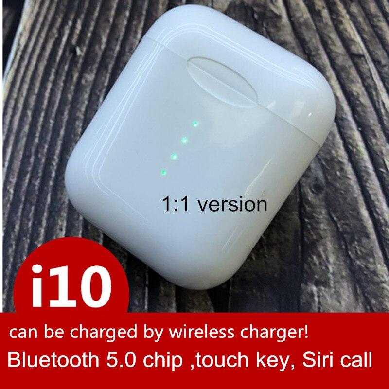 Original i10 TWS 1:1 air pod Drahtlose Bluetooth 5,0 super bass stereo Ohrhörer für apple iPhone max xiaomi ohr pod PK i11 i12 tws