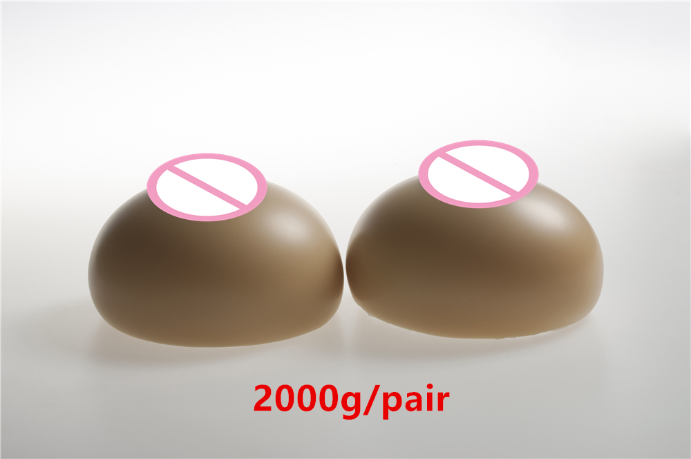 2000g/pair (F cup) High Quality Realistic Health Silicone Breast Forms Crossdresser Breasts Chest Artificial Boobs 2000g pair beige circular realistic silicone artificial false boobs forms fake breast for women s falt chest mastectomy