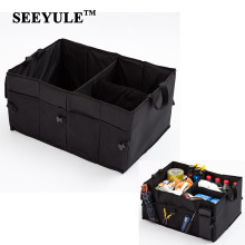 hot deal buy 1pc seeyule car storage bag trunk organizer foldable collapsible boot stuff food drinks stowing tidying car accessories