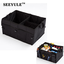 1pc SEEYULE Car Storage Bag Trunk Organizer Foldable Collapsible Boot Stuff Food drinks Stowing Tidying car Accessories