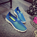 New Summer Woman Casual Shoes Breathable Light Shoes Network Soft Hot Fashion Sport shoes Slip On Mesh Shoes HSE1