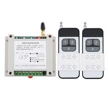 12 v 24 v 48 v 30A 2CH Illuminazione Telecomando Senza Fili Interruttore di Sistema Trasmettitore Ricevitore Senza Fili LED Motor Waterpump industriale