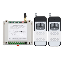 12V 24V 48V 30A 2CH Wireless Remote Control Lighting Switch System Wireless Receiver Transmitter LED Motor Waterpump Industrial