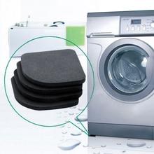 Стиральная машина анти-вибрационная колодка ударопрочный коврик для стиральной и сушильной машины Нескользящая защита для мебели для пола холодильника