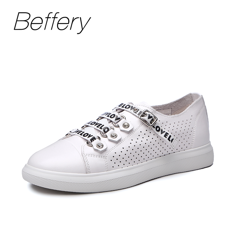 Beffery 2018 Summer Casual shoes Women Sneakers Fashion Flat Shoes For Women Lace-up Breathable Shoes girl Sneakers