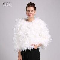 Ngsg Натуральный мех страуса Для женщин Пальто для будущих мам одноцветное страуса Перо теплое пальто Короткие Весна О воротник верхняя одеж