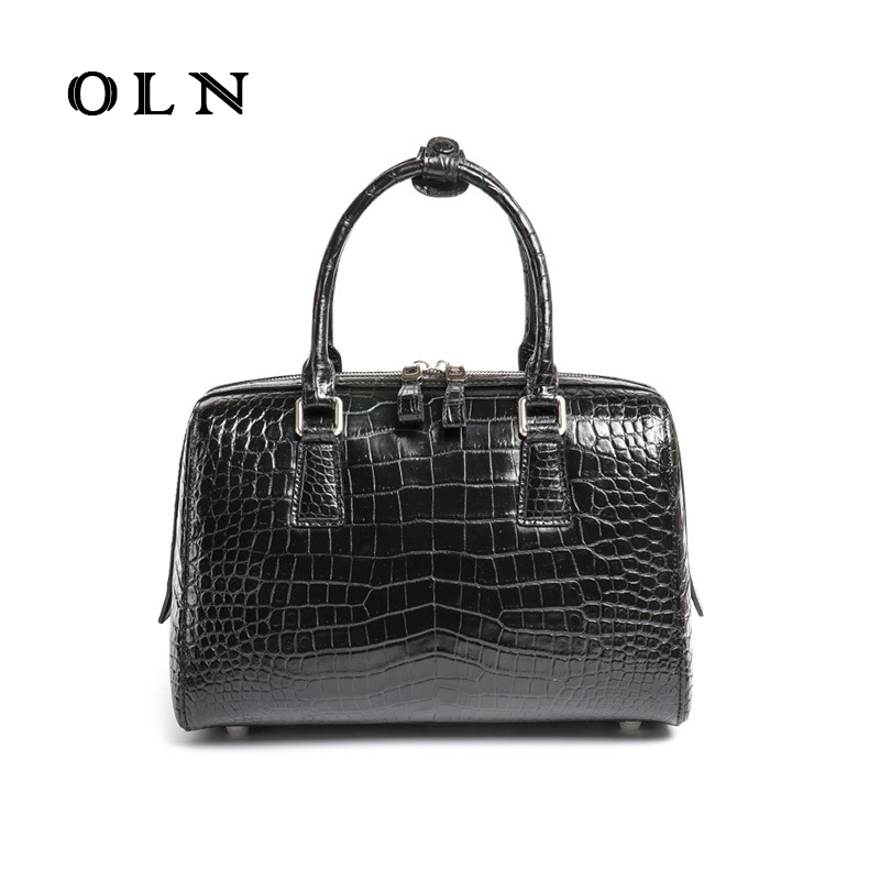 OLN 2018 new brand crocodile lady handbag single-shoulder backpack 100% leather fashion small square bag oln brand 100