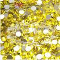 1440pcs/Pack ss6 (1.9-2.0mm) Crystal Citrine Yellow Rhinestones For Nail Art,Flat Back Non Hotfix Glue on Nail Art Rhinestones