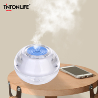Beauty Backlight Crystal Air Ultrasonic Humidifier Fogger Aroma Mist Maker Aromatherapy Essential Oil Diffuser For Home