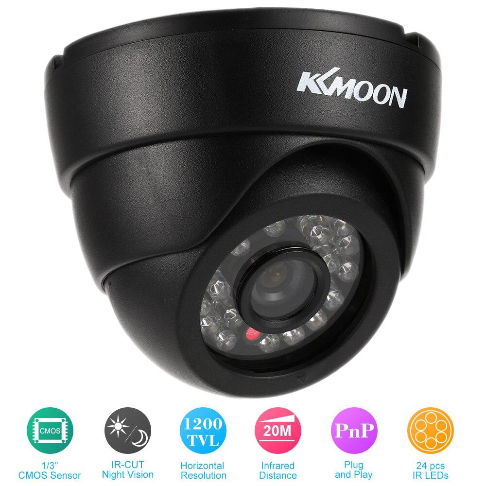 imágenes para KKmoon HD 1200TVL CCTV Cámara 3.6mm Filtro IR-CUT Visión Nocturna CMOS Plug & Play de Vigilancia de Cámaras de Seguridad de Interior de la Bóveda cámara