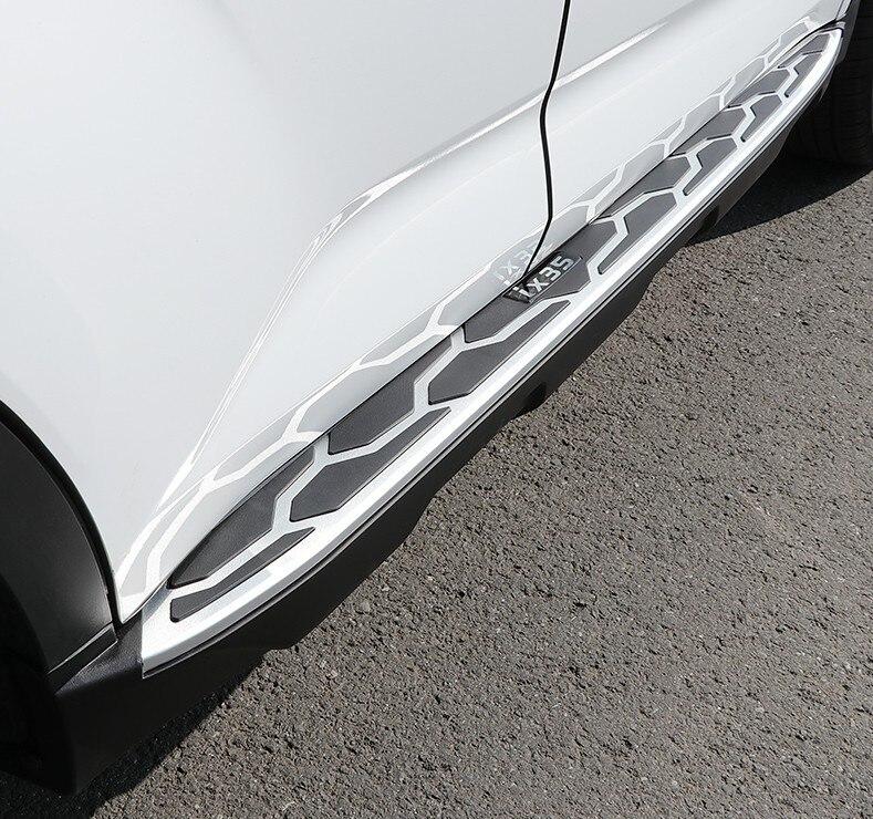 Pour Hyundai ix35 2018 marchepieds Auto côté marchepied pédales haute qualité nouvelle voiture Nerf Bars