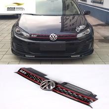 Гольф MK6 Решетка Автомобилей Укладка ABS Сетки Гриль для VW Golf MK6 & GTI и R20 2010-2013