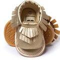 Prata/ouro bebê menina sandálias princesa prewalker shoes botas de couro macio sole shoes primeiro walkers menina da criança borla shoes w1