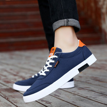 Spring/Autumn 2019 Men Casual Shoes Breathable Fashion Sneakers Canvas Low-cut Lace-up Basic Man Best Seller Size 39-44
