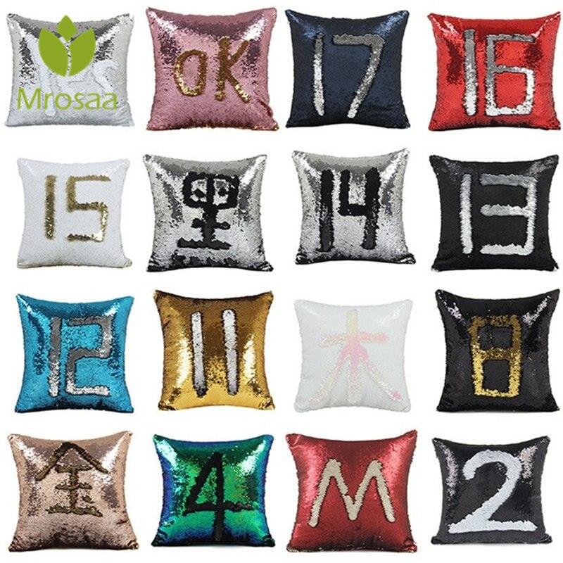 Лидер продаж Home Decor диванные подушки Чехол 40x40 см обратимые блесток Подушка Русалка блесток Наволочка Магические Цвет изменение