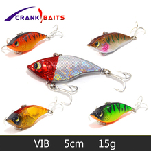 CRANK BAITS 1PCS 15G Hard VIB Lures 5CM Fishing Bait Treble Hooks Sinking Fishing Vibration For All Water Levels wobblers Hooks все цены