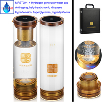 Artesanato japonês Saudável Anti Envelhecimento Separação de hidrogênio e oxigênio água Rica Em Hidrogénio Gerador e 7.8Hz MRET OH copo|Filtros de água| |  -