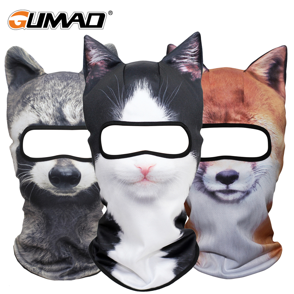 3D Animal Balaclava Full Face Mask Warm Winter Helmet Liner Ski Running Cycling Snowboard Bike Halloween Party Face Shield Hat new arrival 3d animal outdoor party cycling ski hat balaclava motorcycle full face mask cap face shield sun mask dropshipping