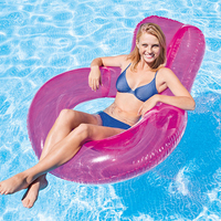 Hot Summer PVC Swimming Ring Floating Hammock Lounger Inflatable Floating Row Sunbath Bed Beach Water Chair for Kids Adult 2019