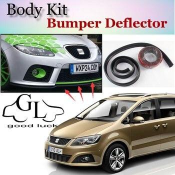 Deflector pára Lábio Lábios Para SEAT Alhambra Frente Spoiler Saia para TopGear Amigos Carro Tuning Ver/Body Kit/tira