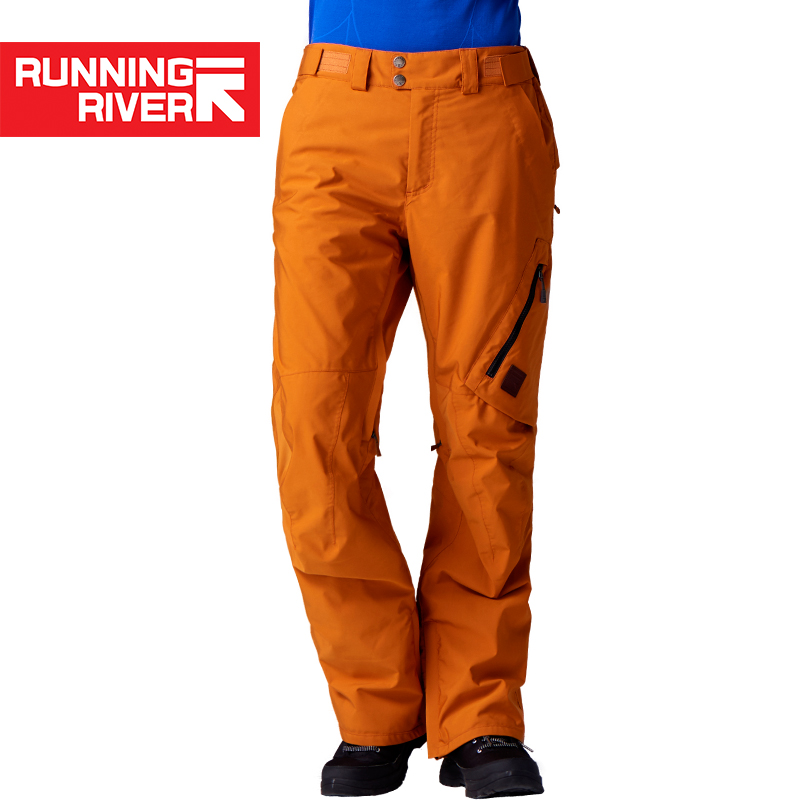 RUNNING RIVER Brand Winter Men Ski Pants Size S - XL Wateproof Windproof Warm Snow Man Outdoor Sports Pants #O7476N цены