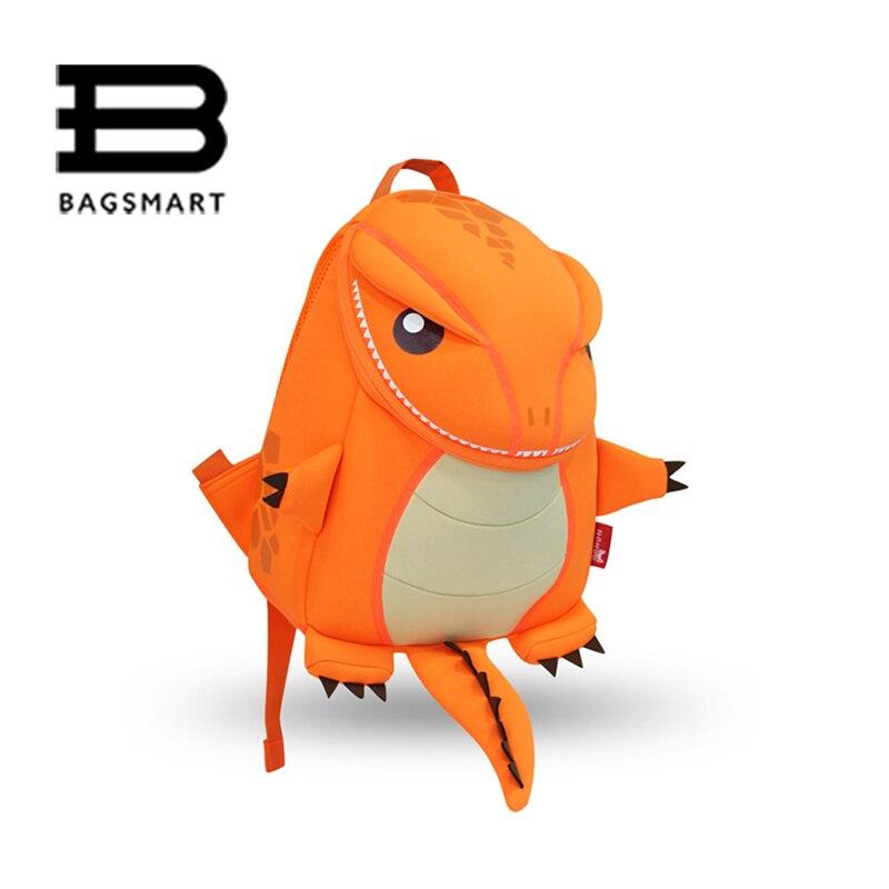 BAGSMART 2017 Animal Waterproof font b Kids b font Baby Bags Kindergarten Neoprene Orange Children School