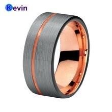 Для мужчин и женщин вольфрамовое обручальное кольцо черного