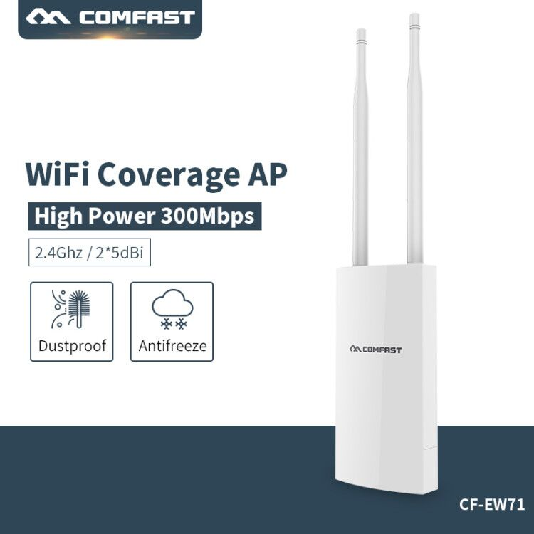 Big area WiFi Cover Wireless wi-fi Range Extender 300Mbps Outdoor wifi Repeater Amplifier 2.4G Waterproof 27dBm Wifi Router/AP outdoor wifi repeater 2 4gwireless wifi amplifier with ap wisp 27dbm wifi router high power wifi extender base station ap