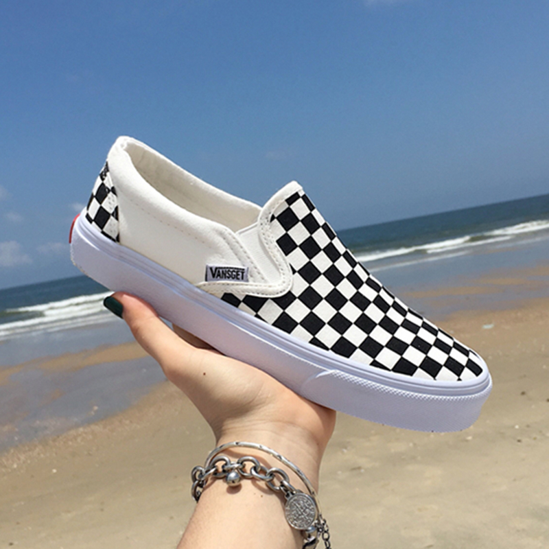 Women Shoes Sneakers Skateboarding-Shoes Canvas Star Black White Sports Unisex Man
