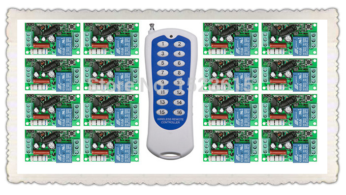 New AC220V 1CH 10A wireless remote control switch system teleswitch 16CH Transmitter + 16 * Receiver relay smart house z-wave soavita soavita полотенце andrea цвет желтый 70х120 см