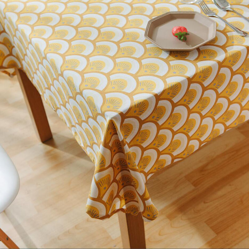 Cotton Table Cloth Nappe Table Cover Japan Style Orange Toalha De ...