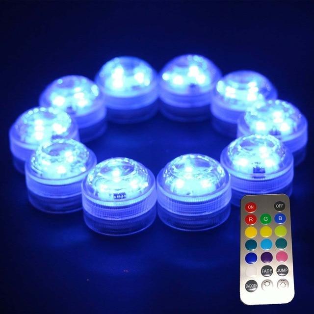 12pcslot Super Bright Submersible Waterproof Mini LED Tea Light