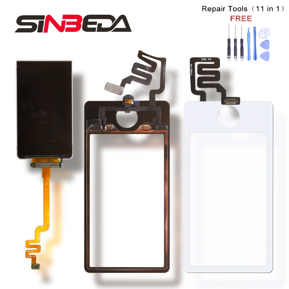 Sinbeda AAAA Quality LCD Screen For iPod Nano 7 LCD + Touch Screen Digitizer Assembly Replacement For Nano 7 Display