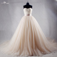 RSW1027 Champagne China Wedding Dresses Hochzeitskleid