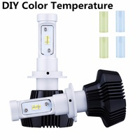 2PCS H4 H7 LED With Philips Chips LED Car Headlight Kit Beam Bulb 80W H11 9005