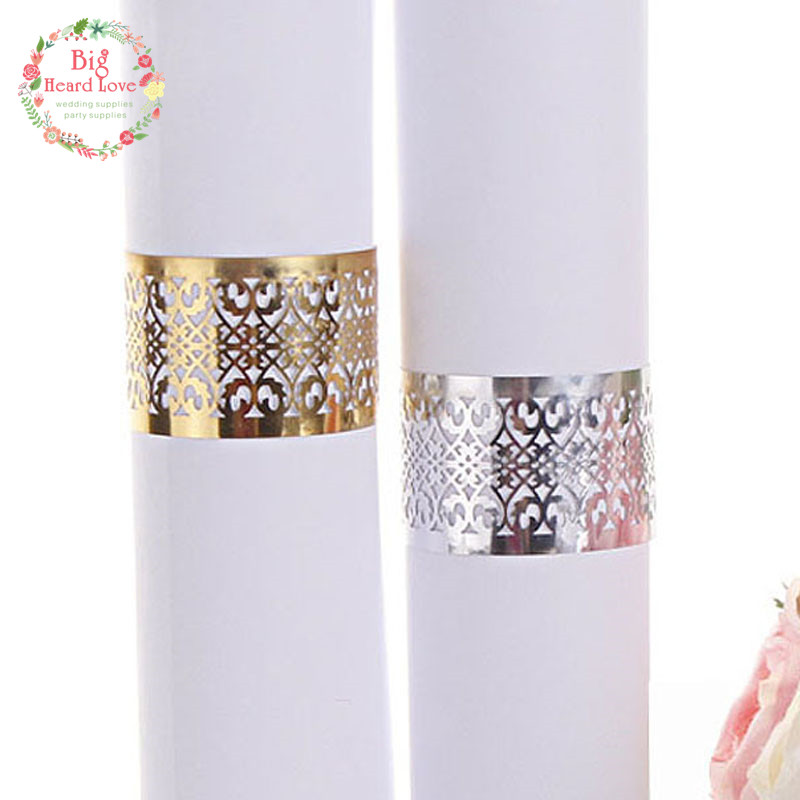 40pcs Wedding Napkin Holder Laser Cut Lace Napkin Ring Party Favor Paper Napkin Ring For Wedding Decoration
