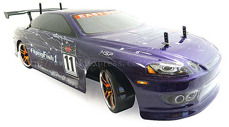 HSP Baja 94123 4WD 1/10 Scale Electric Power Drift Off-Road Drifting Rc Car with 2.4G radio control brush motor RC model hsp rc car flyingfish 94123 4wd drifting car 1 10 scale electric power on road remote control car rtr similar himoto redcat