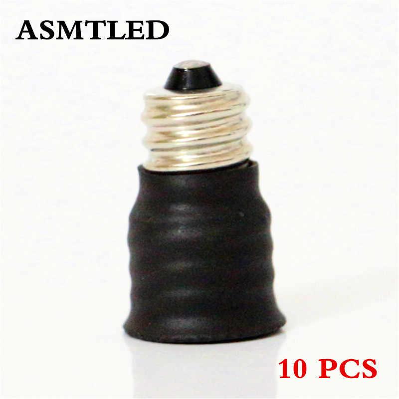 Asmtled бренд высокое качество светодиодные лампы адаптер E12 для E14 черный адаптер конвертер лампы конвертер оптовая продажа 10 шт./лот