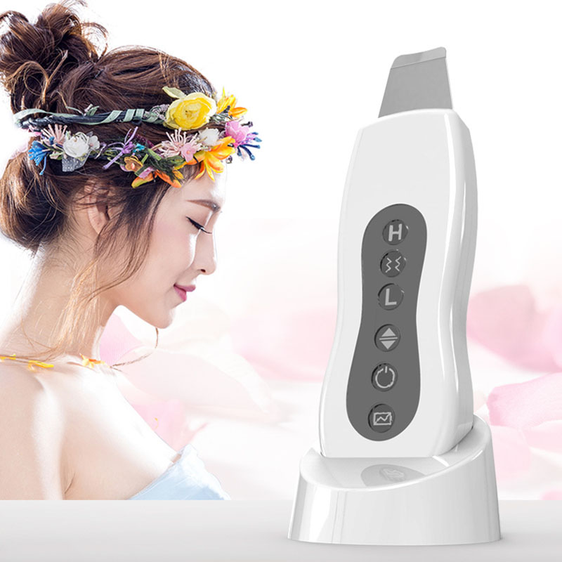 Image 2 - Ultrasonic Vibration Face Pore Cleaner Skin Scrubber Clean Blackhead Acne Removal Facial Cleaner Massager Exfoliating Machine-in Powered Facial Cleansing Devices from Home Appliances