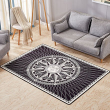 Luxurious Abstract Art Carpet Bedroom Sofa Table Floor Mat Soft Rectangular Floor Mats abstract pattern floor mat