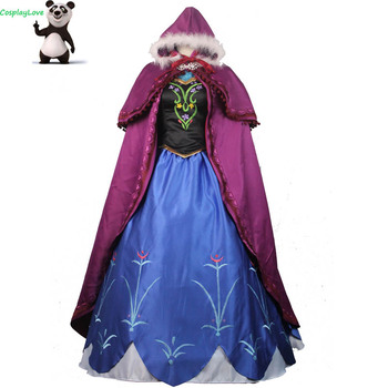 CosplayLove Princess Anna Elsa Princess Dress Princess Anna Costume Adult Snow Grow Princess Anna Cosplay Costume For Halloween фото