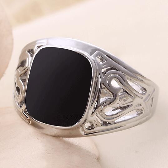 Size 7 11 2015 Fashion High end Men 925 Silver Fine Jewelry Punk font b Titanium
