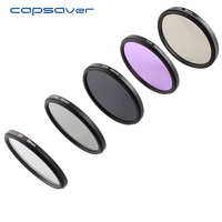 Capsaver Circular Polarizer Filter Set UV CPL FLD ND2 ND4 ND8 Color Lens Filter Kit With