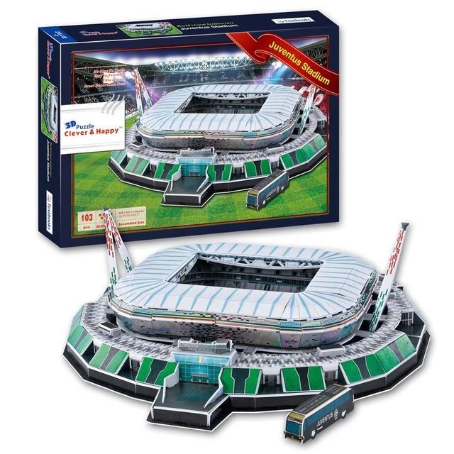 DIY 2014 WORLD CUP Juventus Stadium Stadio Delle Alpi 3D PUZZLE SOCCER FANS  PAPER MODEL 5f3189f776f